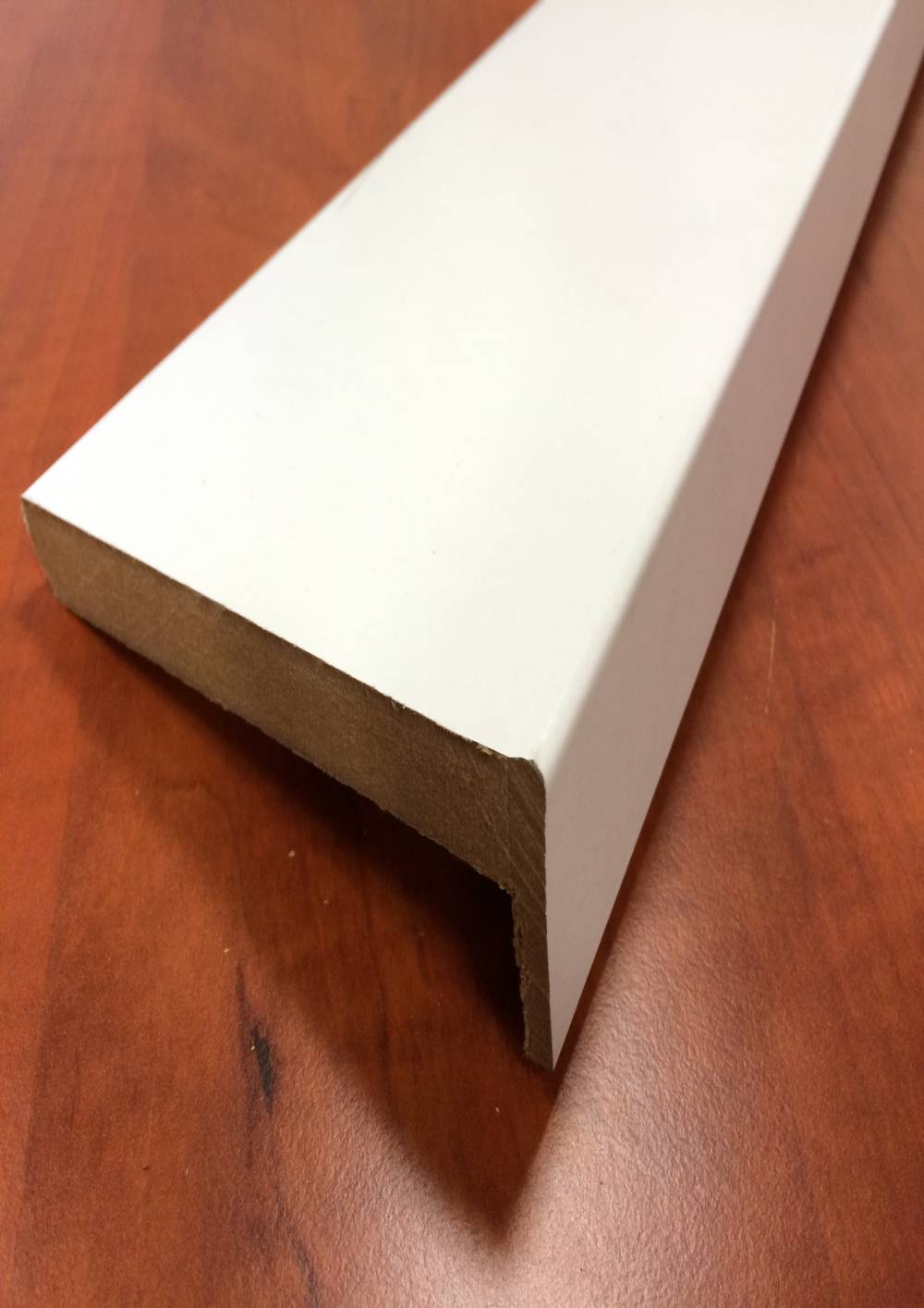 plinthe de r novation blanche support mdf profil carr 25x98x2400 mm 100 bois. Black Bedroom Furniture Sets. Home Design Ideas