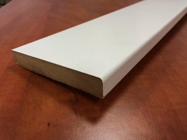 Plinthe blanche support MDF. profil plat.dessus carr�.14x100x2250mm.