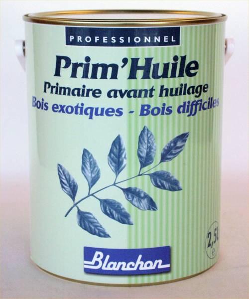 Pour que votre finition huil�e soit r�ussie sur vos  bois exotiques en int�rieur, n'oubliez pas le primaire avant huilage Prim'Huile Blanchon, efficacit� renforc�e